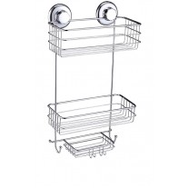 Suction Cup Shower Caddy with Soap (2 Tier) Basket HA-73137
