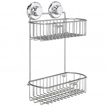 Suction Cup Shower Caddy with Hooks (2 Tier) HA-73136