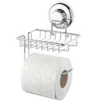Suction Cup Toilet Paper Holder with Shelf HA-73158S