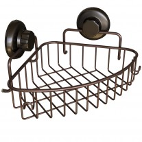 Suction Cup Corner Shower Caddy (1 tier) HA-73131BR (BRONZE)