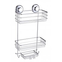 Suction Cup Shower Caddy With Soap (2 Tier) Basket HA 73137